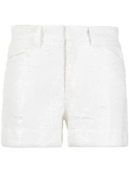 Хлопковые белые шорты с пайетками Zadig&voltaire