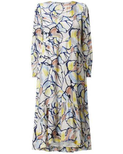 Sukienka midi z falbanami - biała Rich & Royal