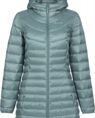 Приталенная зеленая облегченная утепленная куртка на молнии Outventure