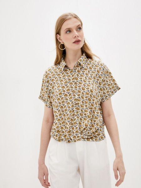 Блузка с коротким рукавом бежевый осенняя Sweewe