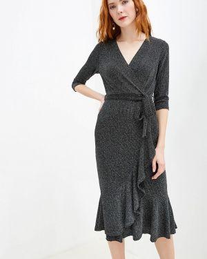 Вечернее платье осеннее серебряный Yumi