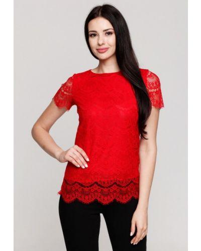 Блузка кружевная красная Karree