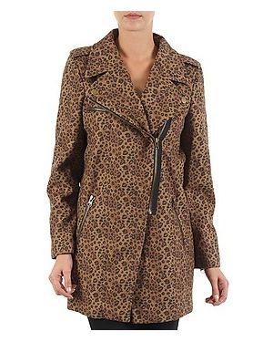 Brązowy płaszcz przeciwdeszczowy Brigitte Bardot
