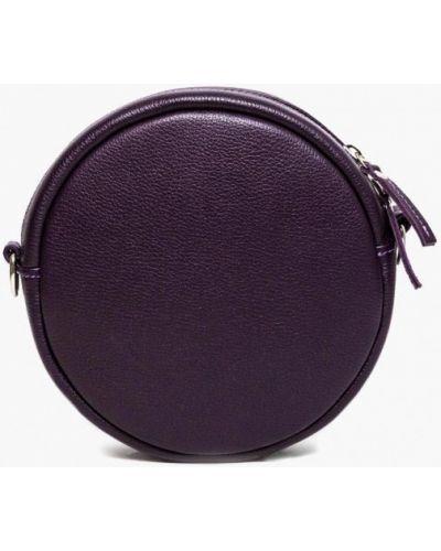 Кожаная сумка через плечо фиолетовый Soroko