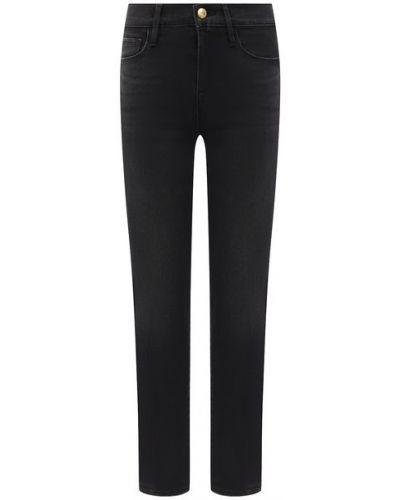Хлопковые серые джинсы Frame Denim