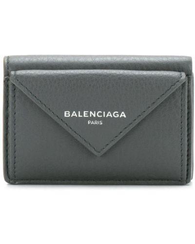 Кожаный кошелек с принтами мини Balenciaga
