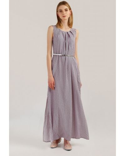 Платье макси на пуговицах - розовое Finn Flare