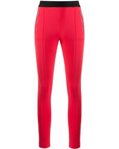Хлопковые красные брюки с поясом Boss Hugo Boss