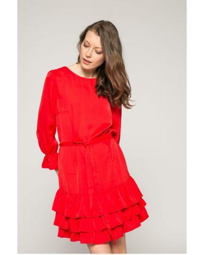Платье мини с вырезом расклешенное Answear