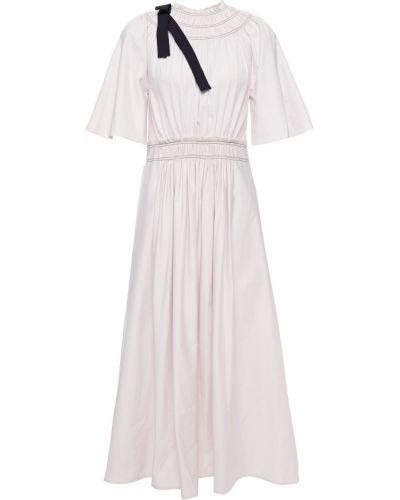 Różowa sukienka midi bawełniana Roksanda