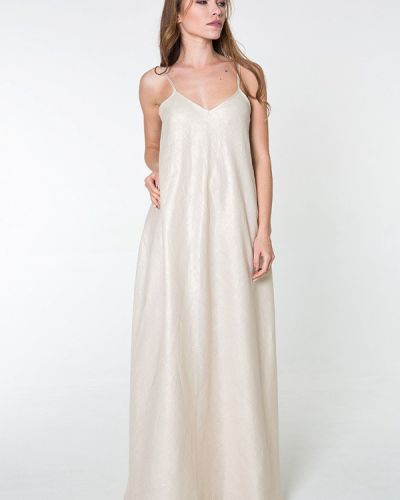 Повседневное платье платье-сарафан бежевое Bernetta