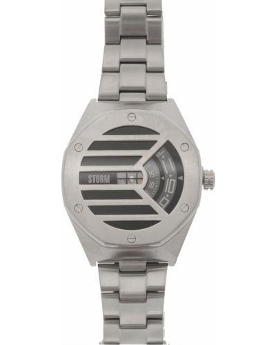 Niebieski zegarek kwarcowy srebrny kwarc Storm