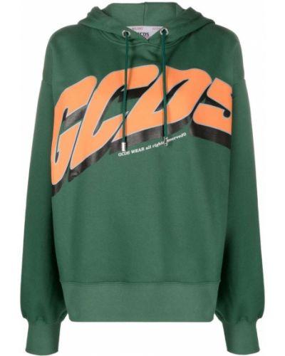 Зеленый хлопковый пуловер Gcds