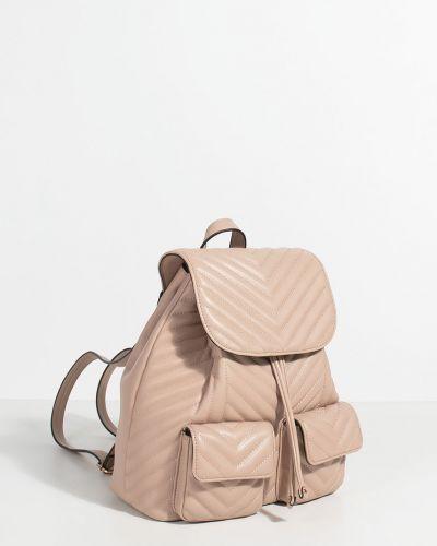 Кожаный рюкзак с подкладкой розовый Parfois