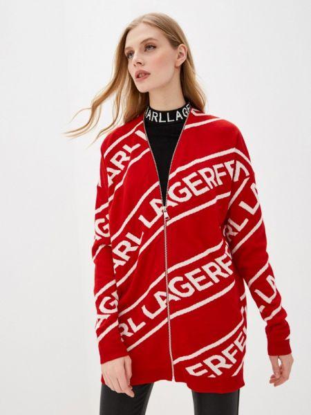 Свитер красный весенний Karl Lagerfeld