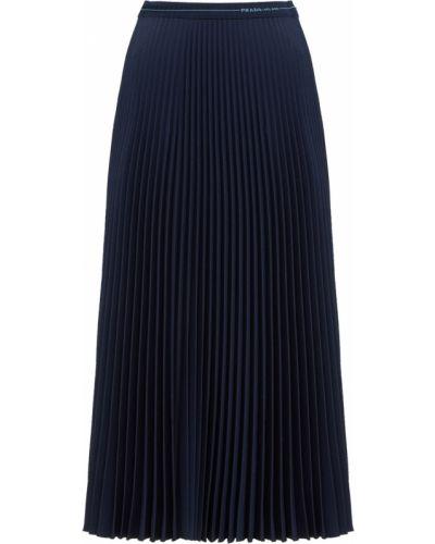 Плиссированная юбка - синяя Prada
