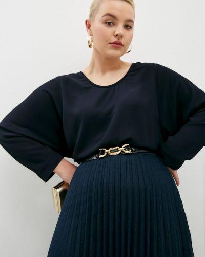 Синяя блузка с длинными рукавами Elena Miro