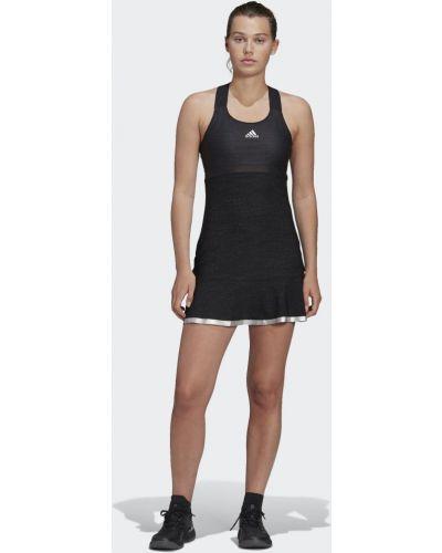 Черное теннисное платье Adidas