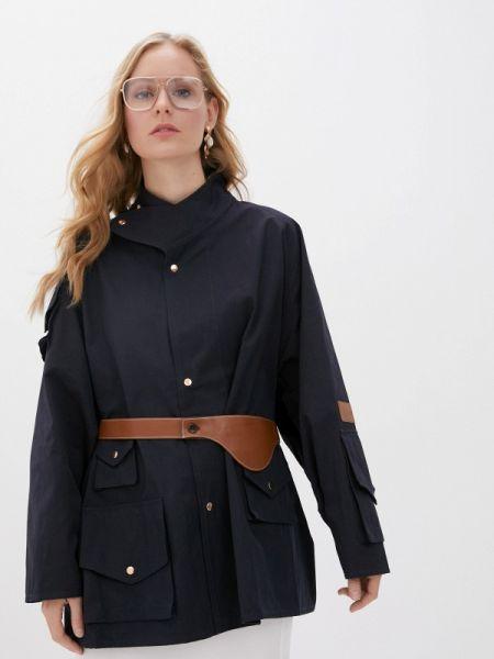 Синяя облегченная куртка Hassfashion