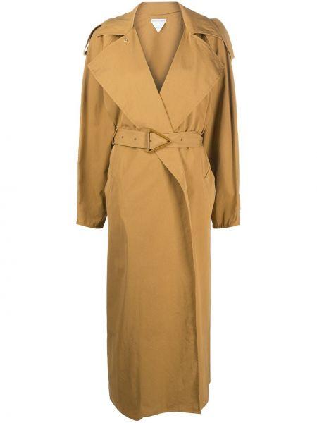 Długi płaszcz klasyczny z kieszeniami Bottega Veneta