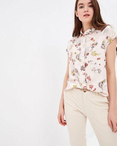 Блузка с коротким рукавом бежевый весенний Sela