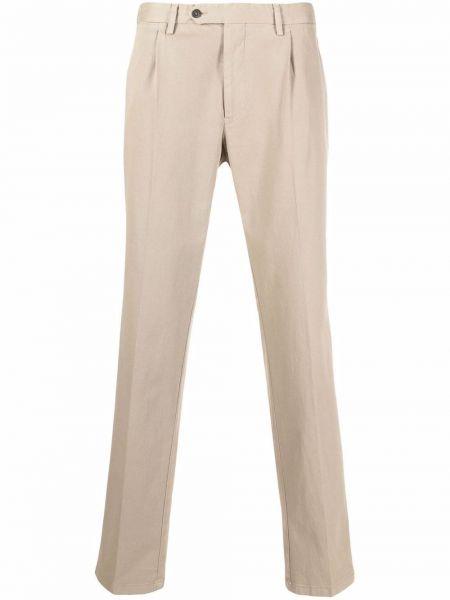 Beżowe spodnie z paskiem Lardini