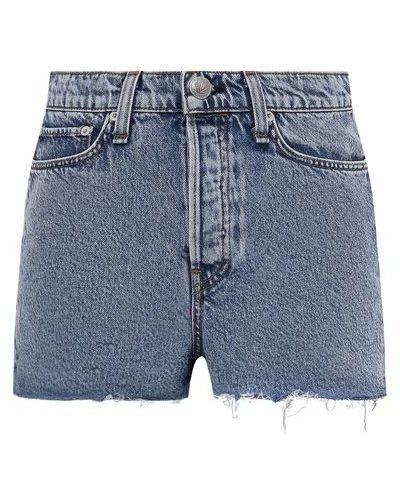Джинсовые шорты - синие Rag&bone
