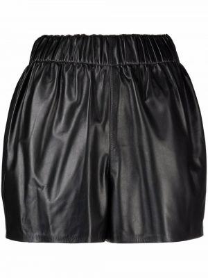 Черные кожаные шорты Manokhi