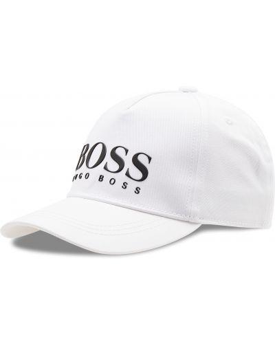 Biała czapka z daszkiem Boss