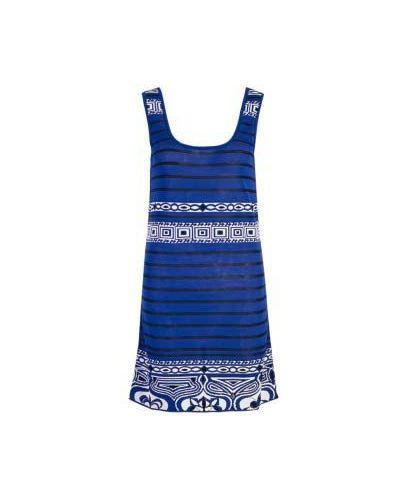 Летнее платье из вискозы синий Emilio Pucci