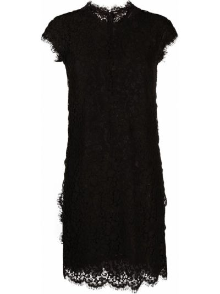 Кружевное черное платье с вырезом Dsquared2