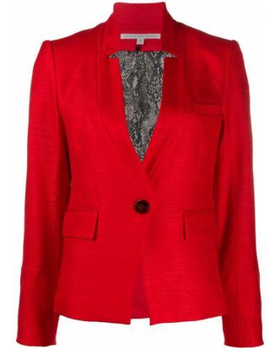 Удлиненный пиджак с воротником с карманами на пуговицах из вискозы Veronica Beard