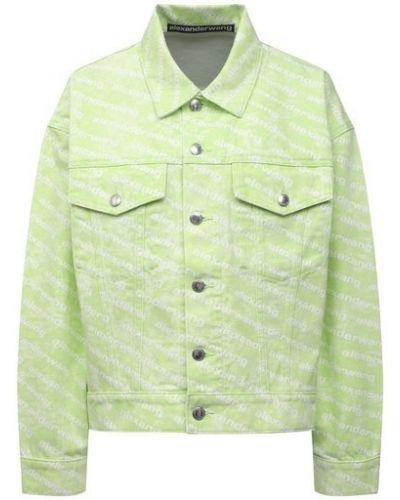 Хлопковая джинсовая куртка - белая Denim X Alexander Wang
