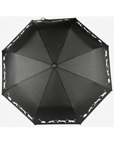 Зонт черный складной Flioraj