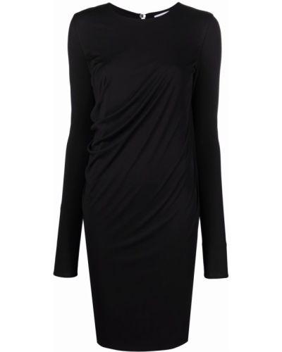 Черное платье с длинными рукавами Salvatore Ferragamo