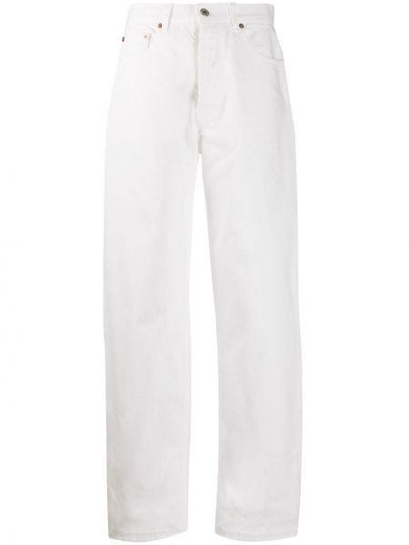 Białe jeansy z wysokim stanem bawełniane Forte Dei Marmi Couture