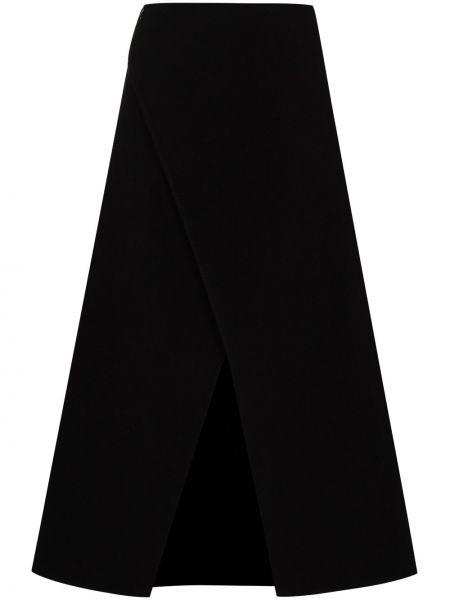 Wełniany czarny spódnica midi Givenchy