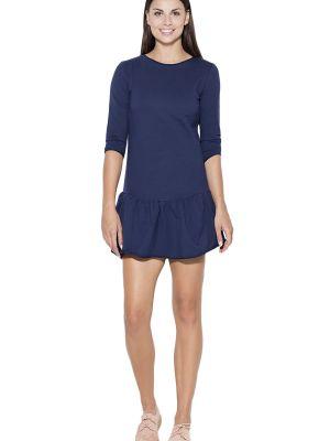 Niebieska sukienka bawełniana Katrus