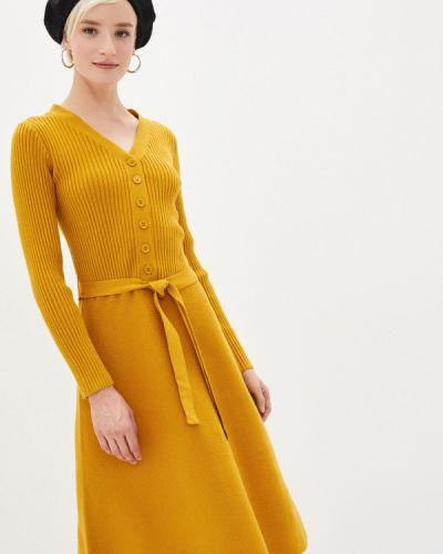 Прямое желтое платье Yumi