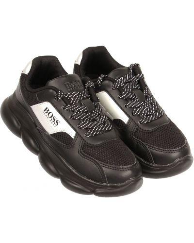 Черные текстильные кроссовки Hugo Boss