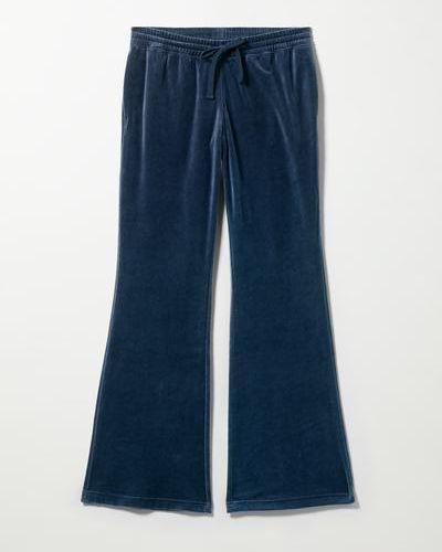 Велюровые спортивные брюки - синие Weekday