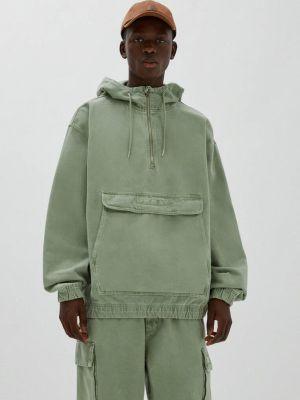 Зеленая зимняя куртка Pull&bear
