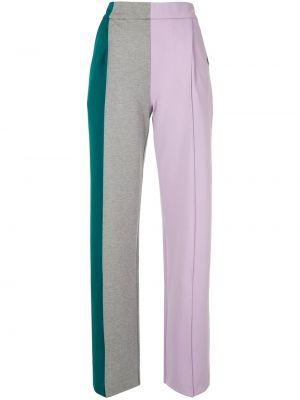 Нейлоновые фиолетовые спортивные брюки с поясом с высокой посадкой Maison Mihara Yasuhiro