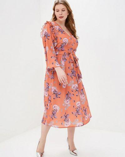 Платье - оранжевое Lost Ink Plus