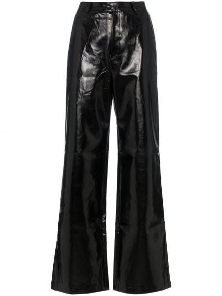 Прямые черные брюки с воротником Charm`s
