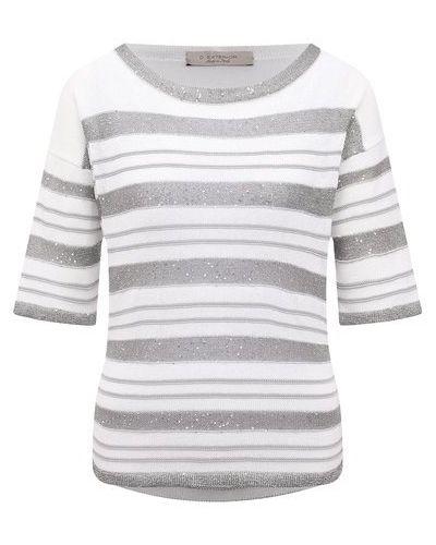 Хлопковый пуловер - серый D.exterior