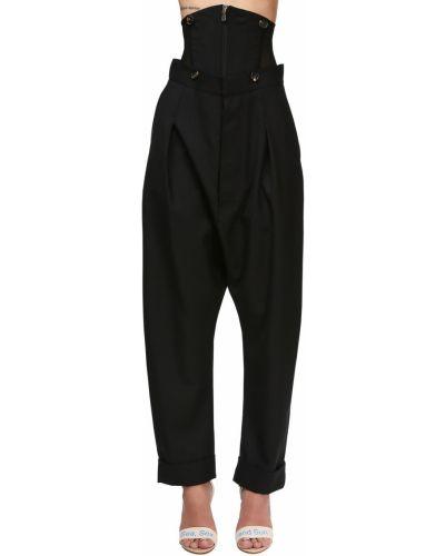 Черные с завышенной талией брюки с карманами Vivienne Westwood