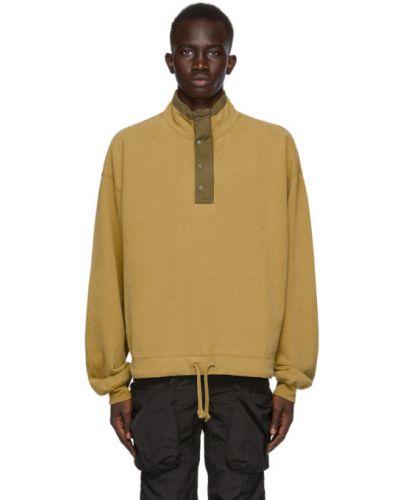 Хлопковый желтый пуловер с воротником Remi Relief