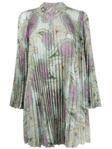 Шелковое платье макси - зеленое Etro