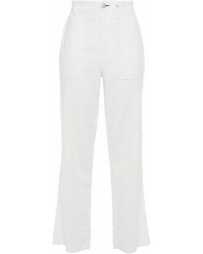Białe spodnie bawełniane z paskiem Rag & Bone